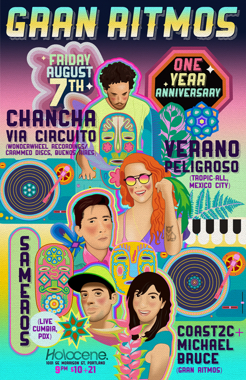 Gran Ritmos Anniversary with Chancha Via Circuito and Verano Peligroso